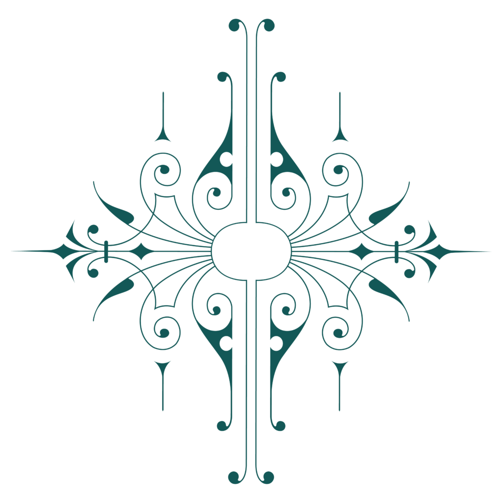 Uvae logo mark a teal grapfic