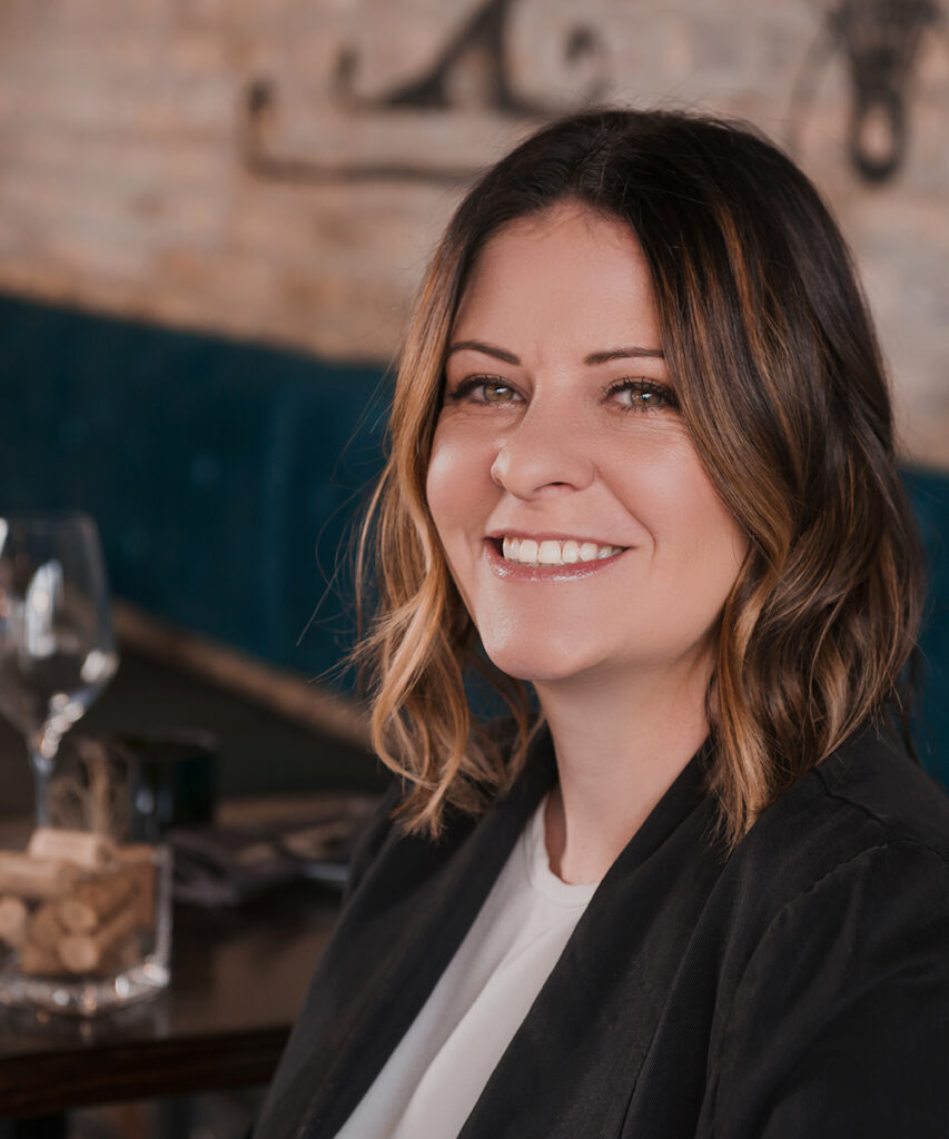 Lindsey Anderson-Perez  owner and sommelier of Uvae Kitchen & Wine Bar